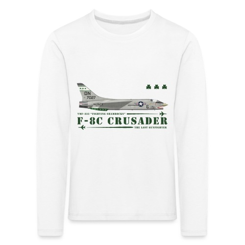F-8C Crusader VMF-333 - T-shirt manches longues Premium Enfant