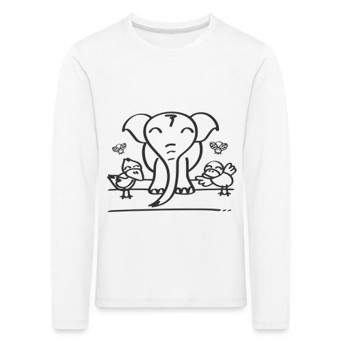 78 elephant - Kinder Premium Langarmshirt