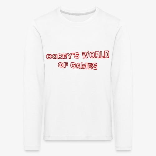 Coreys World Of Games Red - Kids' Premium Longsleeve Shirt
