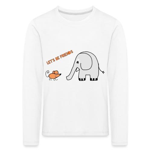 Elephant and mouse, friends - Kids' Premium Longsleeve Shirt