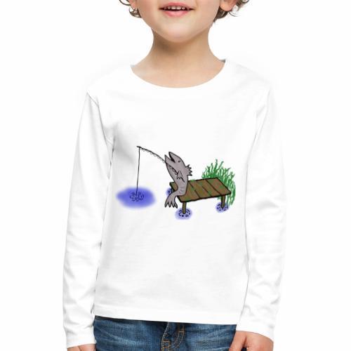 Fisch, Angler,Teich - Kinder Premium Langarmshirt