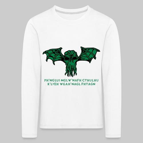 Cthulhu Wings Fhtagn - Kinder Premium Langarmshirt