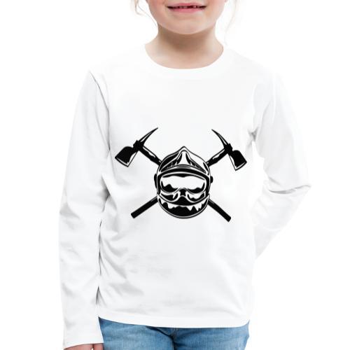 casque_pompier_2 haches - T-shirt manches longues Premium Enfant