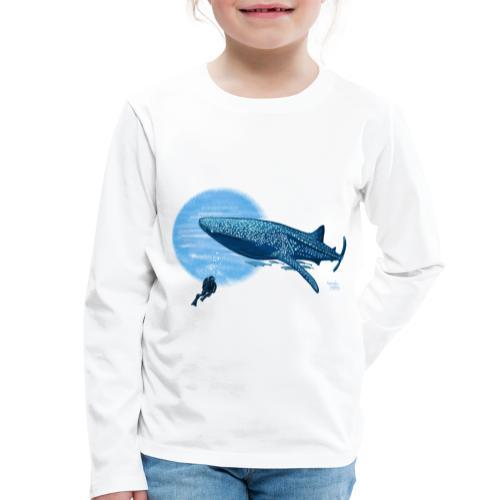 Walvishaai en duiker - T-shirt manches longues Premium Enfant