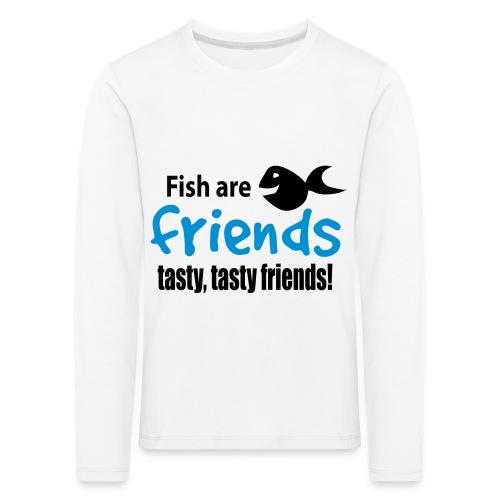 Fisk er venner - Premium langermet T-skjorte for barn