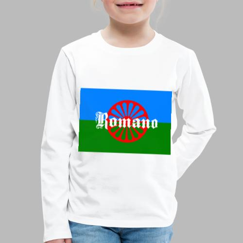 Flag of the Romanilenny people svg - Långärmad premium-T-shirt barn