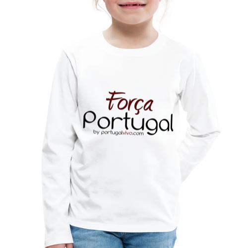 Força Portugal - T-shirt manches longues Premium Enfant