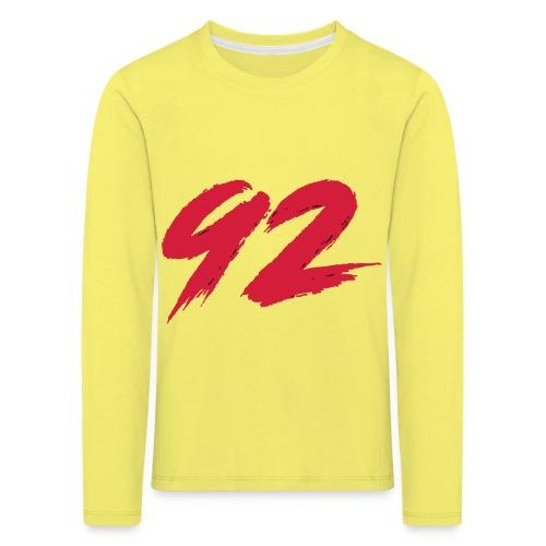 92 Logo 1 - Kinder Premium Langarmshirt