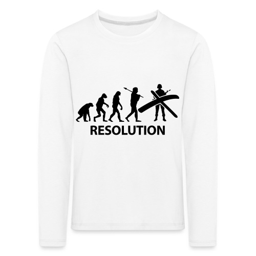 Resolution Evolution Army - Kids' Premium Longsleeve Shirt