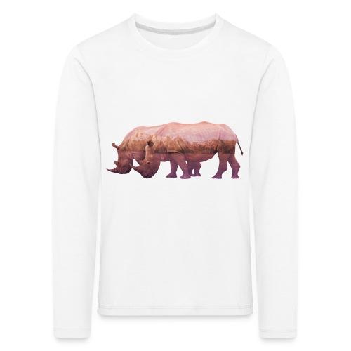 Nashorn Alpen - Kinder Premium Langarmshirt
