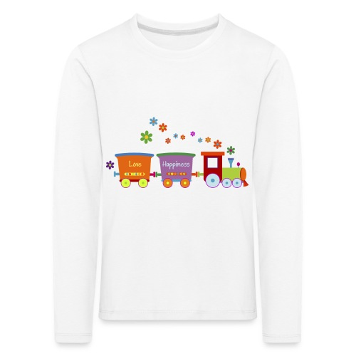 Eisenbahn Kinderspielzeug Zug Frühlingsblumen bunt - Kids' Premium Longsleeve Shirt