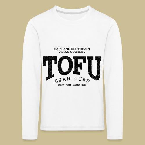 Tofu (black oldstyle) - Kinder Premium Langarmshirt