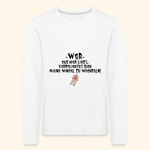 Windel - Kinder Premium Langarmshirt