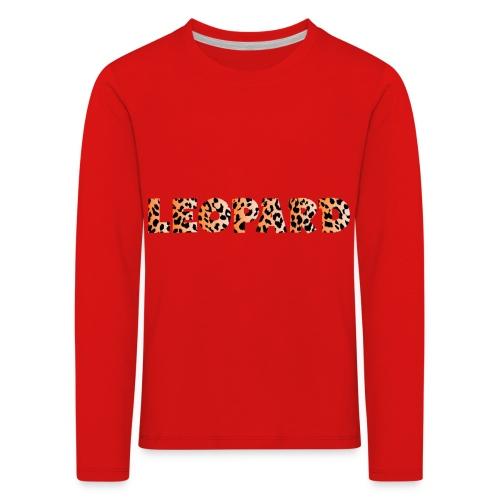 leopard 1237253 960 720 - Kinder Premium Langarmshirt