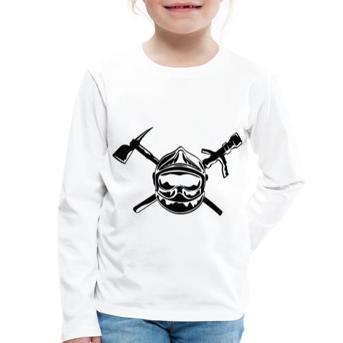 casque_pompier_hache et lance - T-shirt manches longues Premium Enfant