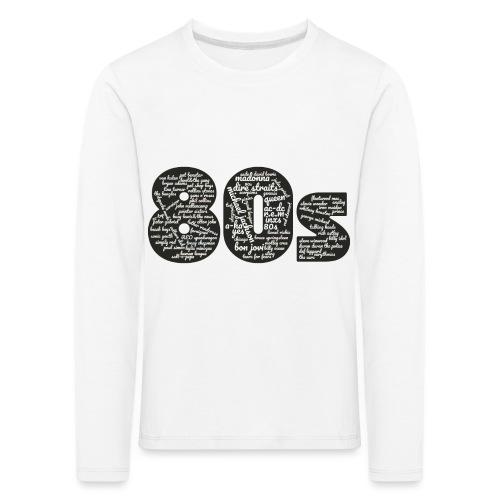 Cloud words 80s white - Kids' Premium Longsleeve Shirt