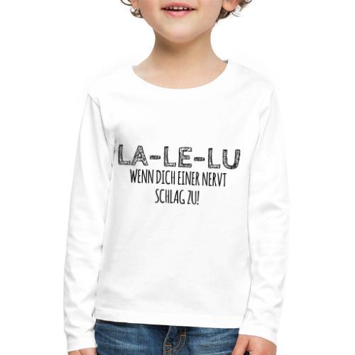 Schlagen - Kinder Premium Langarmshirt