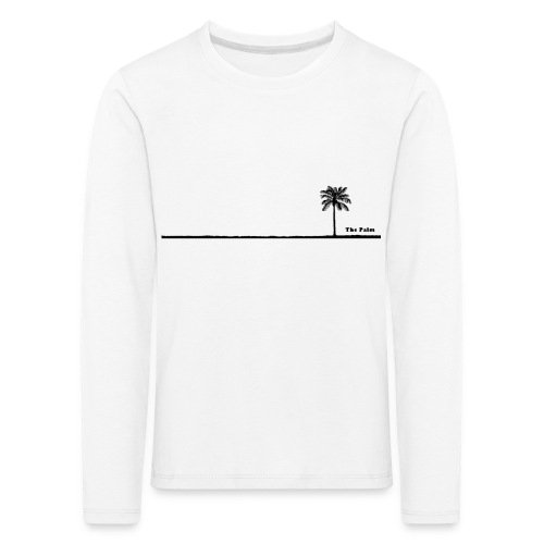 Palm dubai beach black and white - Maglietta Premium a manica lunga per bambini