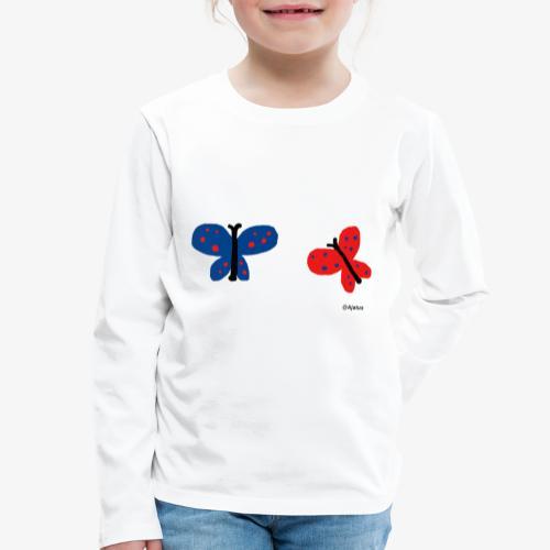 Perhoset - Lasten premium pitkähihainen t-paita