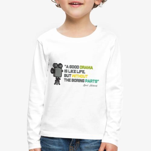 Pasión por el cine - Camiseta de manga larga premium niño