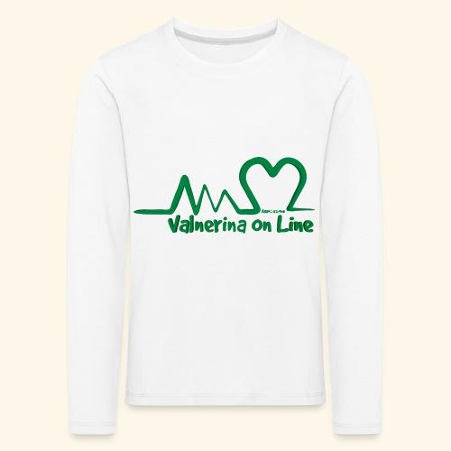 logo verde Associazione Valnerina On line - Maglietta Premium a manica lunga per bambini