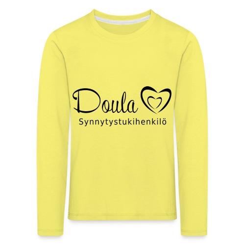 doula sydämet synnytystukihenkilö - Lasten premium pitkähihainen t-paita