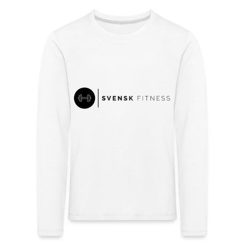 Linne med svart logotyp - Långärmad premium-T-shirt barn