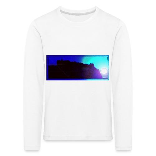 Silhouette of Edinburgh Castle - Kids' Premium Longsleeve Shirt