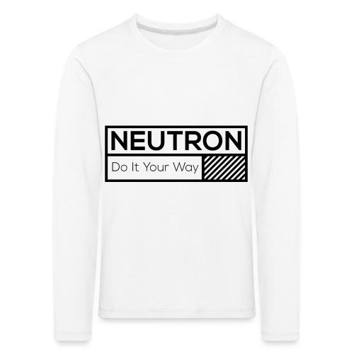 Neutron Vintage-Label - Kinder Premium Langarmshirt