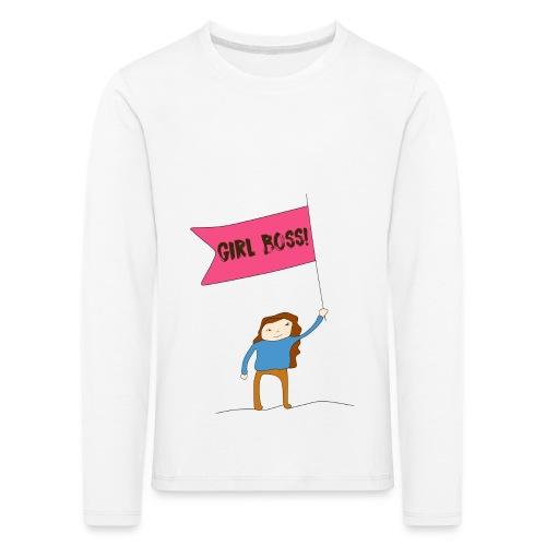 Gurl boss - Camiseta de manga larga premium niño