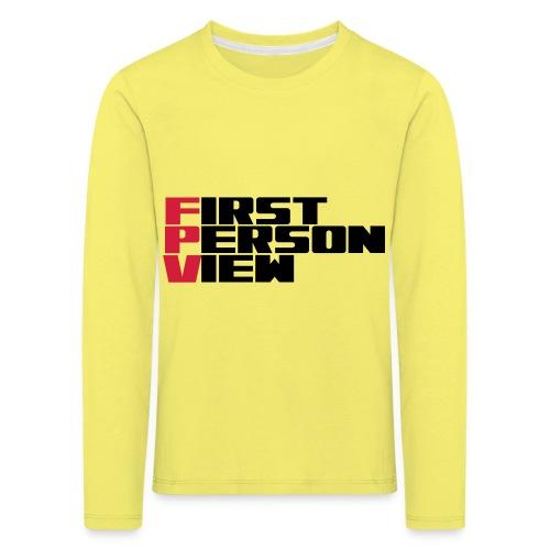 First Person View - Kids' Premium Longsleeve Shirt