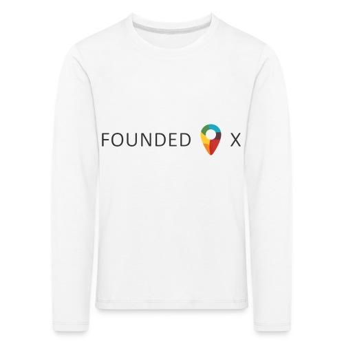 FoundedX logo png - Kids' Premium Longsleeve Shirt