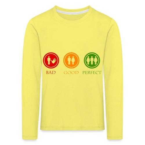 Bad good perfect - Threesome (adult humor) - Kinderen Premium shirt met lange mouwen
