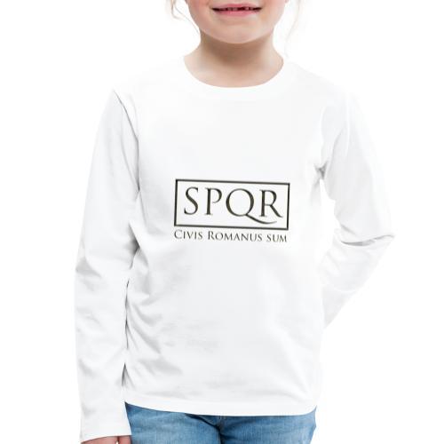 Civis Romanus sum (czarne/black) - Koszulka dziecięca Premium z długim rękawem