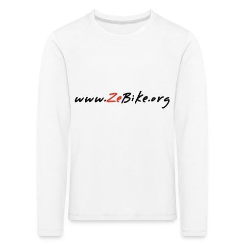 wwwzebikeorg s - T-shirt manches longues Premium Enfant