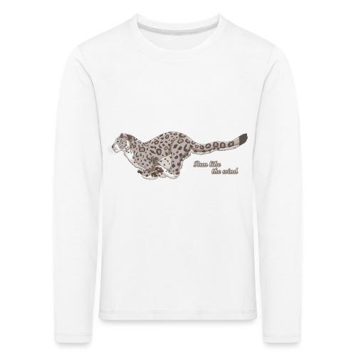 Snow Leopard: Run Like the Wind - Koszulka dziecięca Premium z długim rękawem