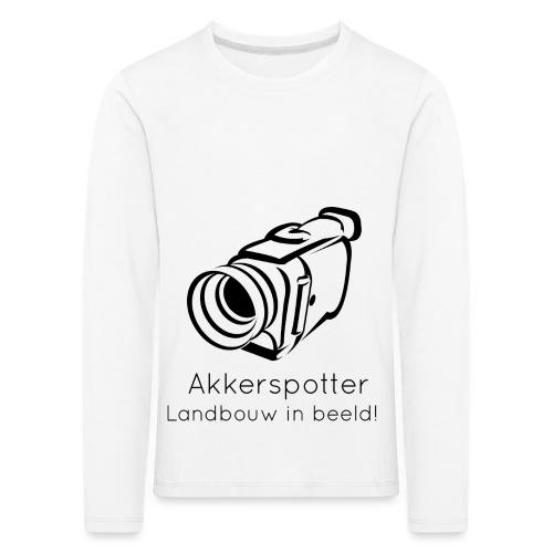 Logo akkerspotter - Kinderen Premium shirt met lange mouwen