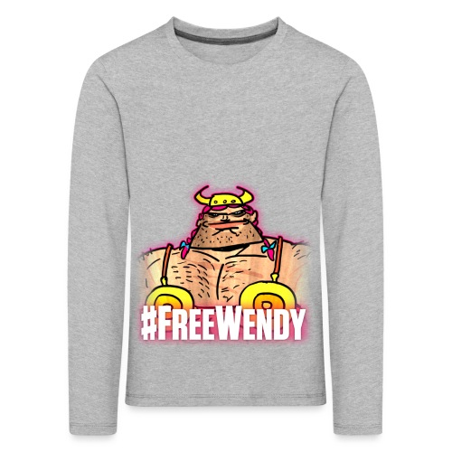 #FreeWendy - Kids' Premium Longsleeve Shirt