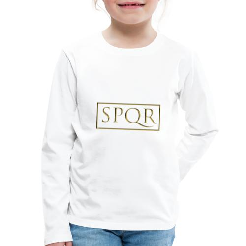 SPQR kolor (color) - Koszulka dziecięca Premium z długim rękawem