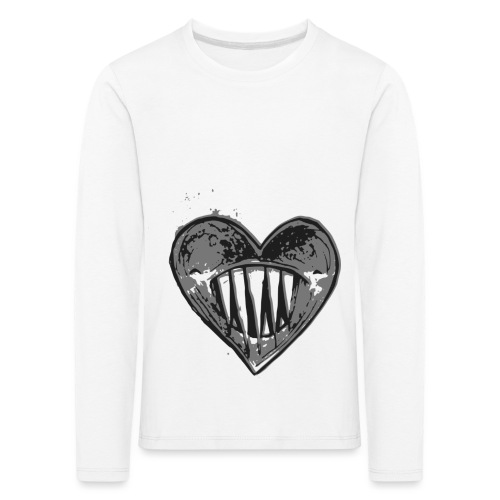 Corazón Negro - Camiseta de manga larga premium niño
