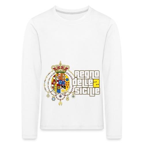 regno delle 2 sicilie testo bianco - Maglietta Premium a manica lunga per bambini