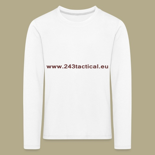 .243 Tactical Website - Kinderen Premium shirt met lange mouwen