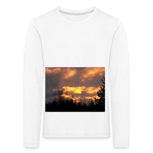 Iltarusko - Lasten premium pitkähihainen t-paita