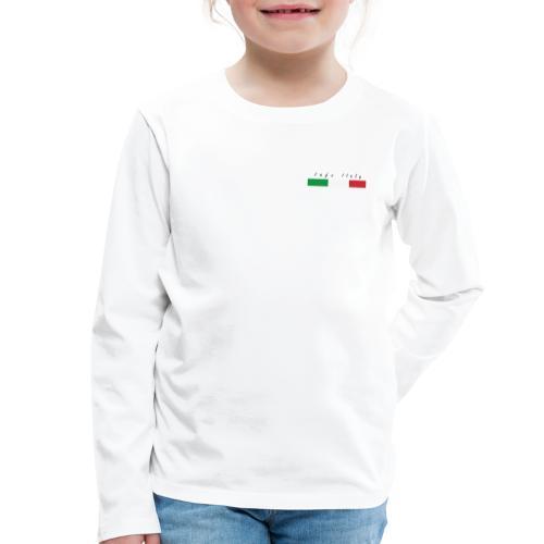 Info Italy Design - Maglietta Premium a manica lunga per bambini