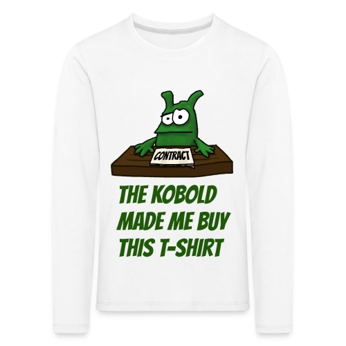 Kobold made me buy - Kids' Premium Longsleeve Shirt