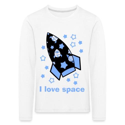 I love space - Maglietta Premium a manica lunga per bambini
