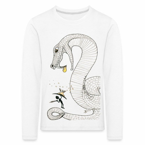 Poison - Combat contre un serpent venimeux géant - T-shirt manches longues Premium Enfant