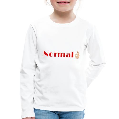 Design Normal - T-shirt manches longues Premium Enfant