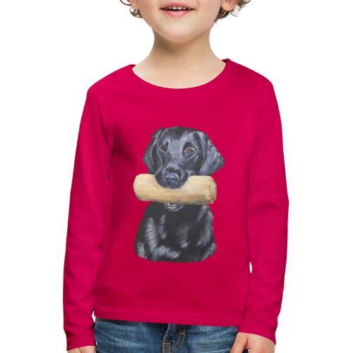 flatcoated retriever Dumbbell - Børne premium T-shirt med lange ærmer