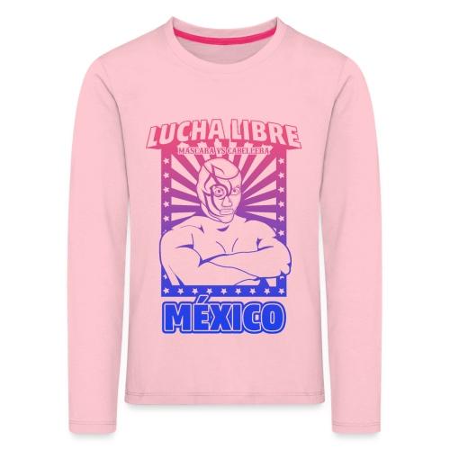 Lucha Libre Mexico Esfumado - Camiseta de manga larga premium niño